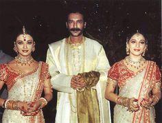"A rare pic of Aishwarya & Madhuri on the sets of ""Devdas"" {2002}"