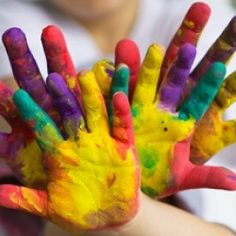 Loving to finger paint when I was young.
