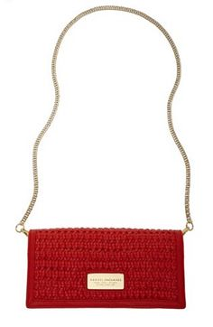 ARMANI EXCHANGE Red Woven Clutch. 1e Red Fold over clutch ! (Sale $52.80)
