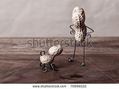 stock photo : Miniature Still-Life with Peanut Man and Dog