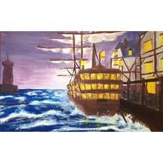 Boat, acrylic painting