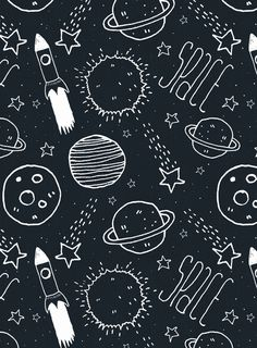 Space Doodles Art Print by Tracie Andrews