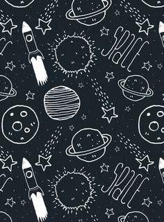 Space Doodles Art Print