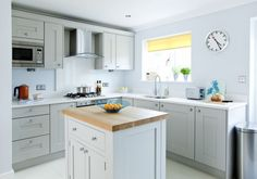 Pale grey kitchen makeover