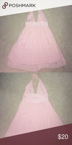 Baby Pink Babydoll Dress Worn once; ties around neck, low cut in the front Dresses Mini