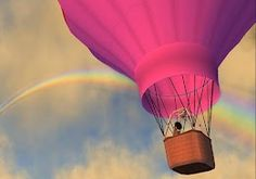 Adventure balloonist Dahlia Jayaram follows what might be Second Life's largest rainbow, located in Ear, Heterocera.