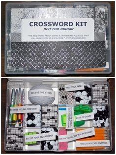 The nice thing about doing a crossword puzzle is you know there is a solution.  -Stephen Sondheim Letu0027s play guess whatu0027s in that package. & Customized crossword puzzle tile. | palavras cruzadas | Pinterest 25forcollege.com