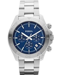 FOSSIL Retro Traveller Stainless Steel Bracelet, 139€ http://www.oroloi.gr/product_info.php?products_id=33594