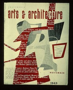 Arts & architecture cover design by Ray Eames, 1 9 4 3.