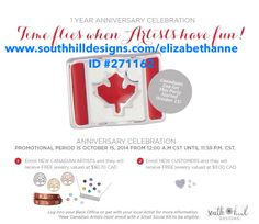 Don't miss this!  24 hour incentive sign up now at www.southhilldesigns.com/elizabethanne