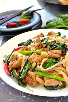 Spicy Thai Noodles (Pad Kee Mao / Drunken Noodles) #beeffoodrecipes