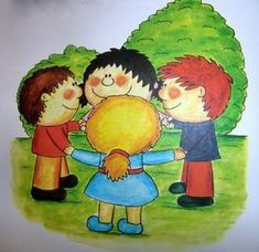 Kamarádi-vztahy-chování Pre School, Preschool Activities, Painting, Fictional Characters, Image, Friends, Board, Creativity, Frames