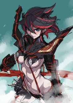 Anime Neko, Kawaii Anime Girl, Otaku Anime, Anime Art Girl, Anime Naruto, Manga Anime, Kill La Kill Cosplay, Kill A Kill, Vegito Y Gogeta