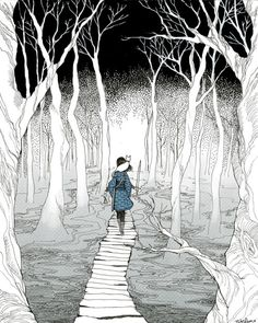 """Does the walker choose the path, or the path the walker?"" -Garth Nix, Sabriel."