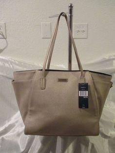 Tommy Hilfiger Handbag Med Tote 6926837 711 Color Beige Gold Retail $ 99.00 #TommyHilfiger #TotesShoppers