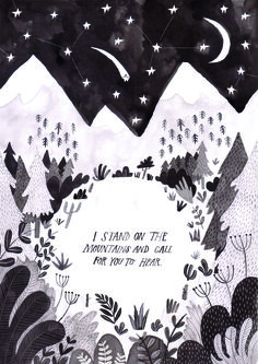 A beautiful new A4 MoonKo print 'Mountain Call'  All prints are signed and dated and printed on 220gsm eco paper
