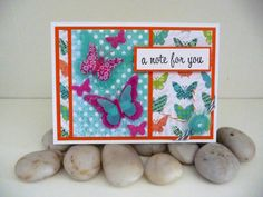 A Note For You Bright Handmade Card by SadieKS on Etsy, $6.50