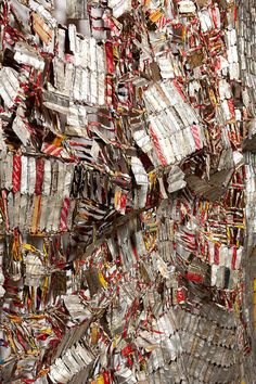El Anatsui  Saw his installation in Akron in 2012. This stuff is amazing in person. If you ever get the chance go see an exhibit of his works and ponder the effort, collaboration, discipline involved. Then enjoy the art!