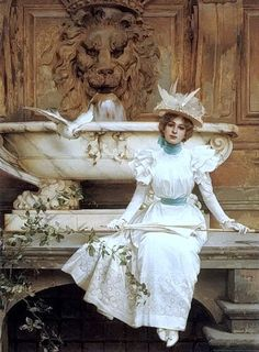 Vittorio Matteo Corcos (1859 - 1933)- the fountain