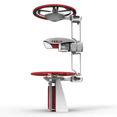 """Tesla Drone. This """"concept"""" is as impractical as it is esthetically pleasing to the eye. Stabilization will be nearly impossible with just 2 fans in either posture."""