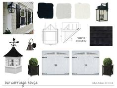 Use these colors for house - but Black on Front door, Gray owl on shutters and white house.