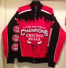 Chicago BULLS 6-Times Champions Cotton Twill Jacket by GIII-Commemorative Jacket
