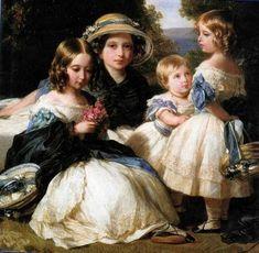 Princesses Victoria, Alice, Helena and Louise of the United Kingdom, 1849 (Winterhalter)