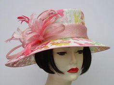 Pastel Brocade Picture Hat