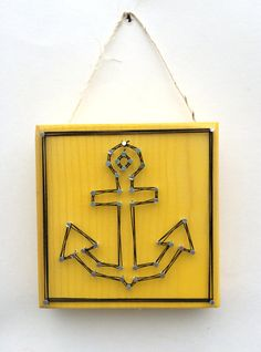 Anchor String Art Home or Office Decor by Edgeofthewoodsart