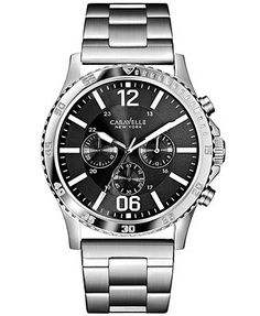 Caravelle by Bulova Men's Chronograph Stainless Steel Bracelet Watch 44mm 43A115