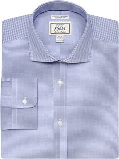 1019dcc17 1905 Collection Tailored Fit Cutaway Collar Comfort Stretch Check Dress  Shirt - Big & Tall CLEARANCE