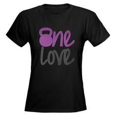 Purple One Love Kettlebell Women's Dark T-Shirt
