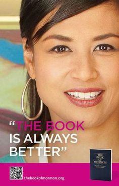 """""""The Book is always better""""  Book of Mormon  Read it-Believe it- Trying to live it!~Amy"""