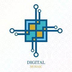 Digital Mosaic logo by Serdal Sert