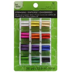 <div>This 12-pack has enough beading wire for several projects and includes an assortment of bea...