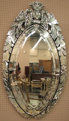 Venetian Style pair of venetian style etched glass mirrors | furniture, style and