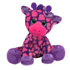 Gia the Sparkly Pink and Purple Stuffed Giraffe Gal Pal by First and Main