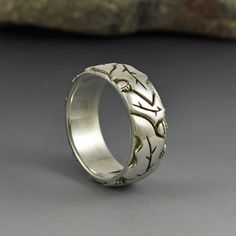 Sterling Silver 14 mm Wide Band Ring-cadeau gratuit emballage