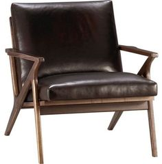 Cavett Leather Chair - Its clean lines and soft leather will work in most rooms and will look great for years.