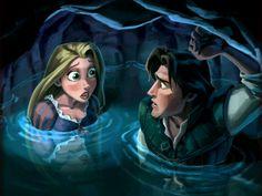Flynn Rider x Rapunzel - Tangled Disney Rapunzel, Tangled Rapunzel, Arte Disney, Disney Fan Art, Disney Love, Princess Rapunzel, Disney Princess, Best Disney Movies, Disney Films