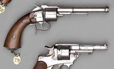 Revolver Gauthier Jeune 2e type à percussion centrale, simple action, six coups, calibre 11 mm