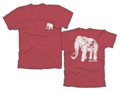 Alabama Crimson Elephant ss comfort color $19.99