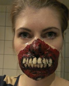 Chrix Design: Zombie time! Exposed teeth made with fake finger nails