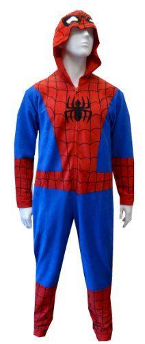 Spiderman / Spidergirl Hooded Fleece Onesie Pajama (Small/Medium) WebUndies,http://www.amazon.com/dp/B00EYN26CY/ref=cm_sw_r_pi_dp_DvzNsb1AWR7K83KE