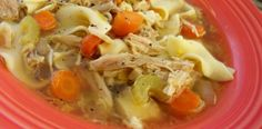 crock pot chicken noodle. This was SO GOOD. buuuuut too much chicken. I used 2 breasts (instead of 4) and there was SO MUCH chicken. (granted, they were big breasts.) Next time I would add more carrots, more noodles, and less chicken.