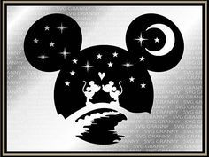Mickey head, Disney couple SVG DXF Png Layered Cut File Cricut Designs Silhouette Cameo, Vinyl Decal Heat Transfer Iron on - Tattoo Models