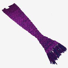 """[SOLE] """"Feenland"""" Serie Mermaid Schwanz Decke, All Seasons weiche warme Steppdecke für Klimaanlage Schlaf gestrickter Stoff Crochet Quasten Schlafsäcke (lila)"""