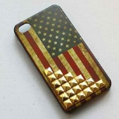 American Flag with studs #studs #america #flag #vintage #cool #iphone #phonecase #phonecases #cases