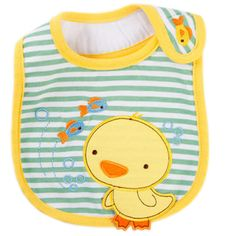 Duck Toddle Burp Cloths Infant Baby Dribbler Bibs Neat Solutions Set of 3