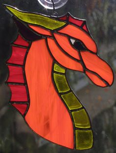 Fire Dragon Suncatcher by Tamar R. Beecher